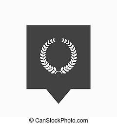 laurel, coroa, isolado, tooltip, sinal