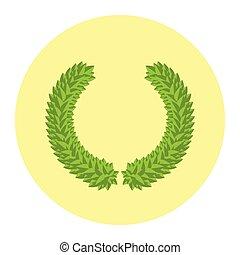 Laurel Leaf Green Flat Style Winner Wreath