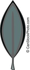 Laurel leaf icon monochrome