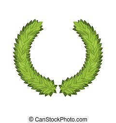 Laurel Leaf Tree Green Wreath Winner Award