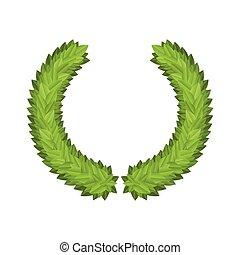 Laurel Leaf Tree Green Wreath Winner Award