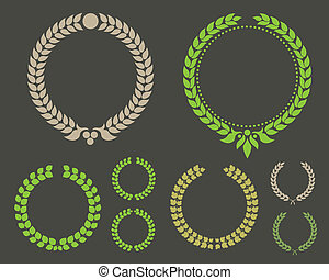 Laurel Leaf Wreath Winner Set