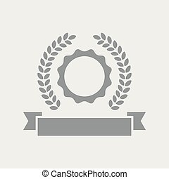Laurel quality insigna icon - Flat and isolated vector ...