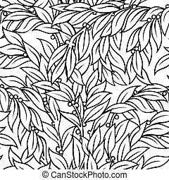 Laurel seamless background