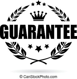 laurel, vetorial, garantia, ícone