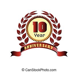 Laurel wreath 10 years anniversary