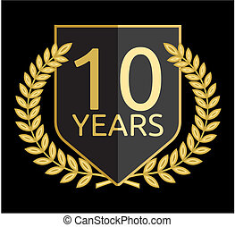 laurel wreath 10 years