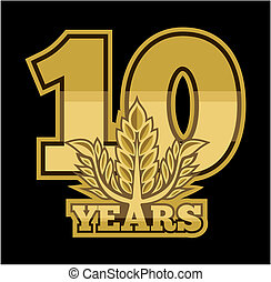 laurel wreath 10 years