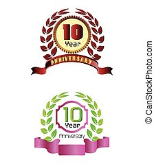 Laurel wreath 10 years set