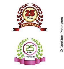 Laurel wreath 25 years set
