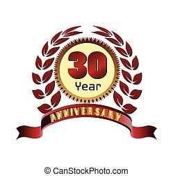 Laurel wreath 30 years anniversary