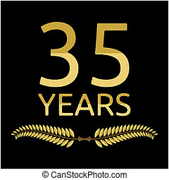 Laurel wreath 35 years