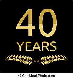 laurel wreath 40 years