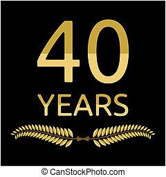 laurel wreath 40 years