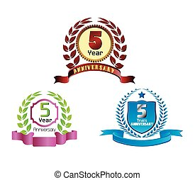 Laurel wreath 5 years set
