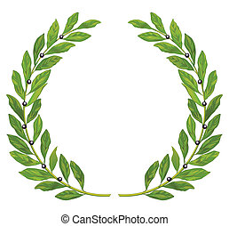 Laurel wreath and laurel