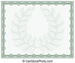 Laurel Wreath Certificate Background