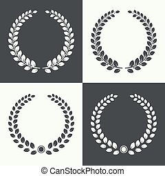 laurel, wreath., circular