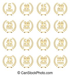 laurel wreath collection for jubilee - collection of laurel...