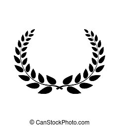 Laurel wreath, conceptual logo. Detailed vector illustration...