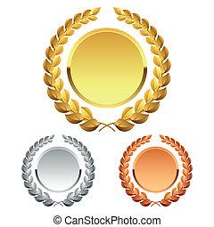 Laurel wreath - Detailed vector illustration of laurel ...