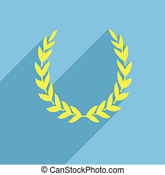 laurel wreath flat