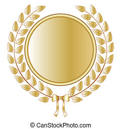 Laurel wreath - Golden laurel wreath