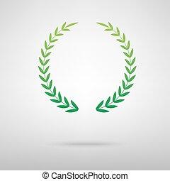 Laurel Wreath green icon
