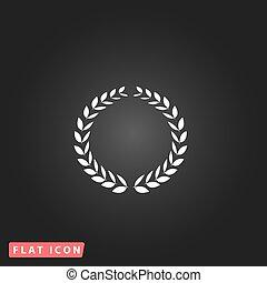 Laurel wreath icon or sign i