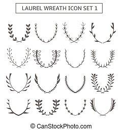 Laurel wreath icons