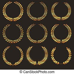 Laurel wreath.