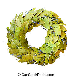 Laurel wreath isolated - Green laurel wreath isolated ...