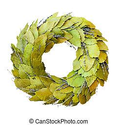 Laurel wreath isolated - Green laurel wreath isolated...