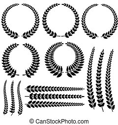Laurel Wreath Set Isolated