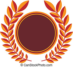 Laurel Wreath Shield - Wreath shield award isolated on a...