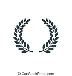 Laurel wreath , simple concept logo.