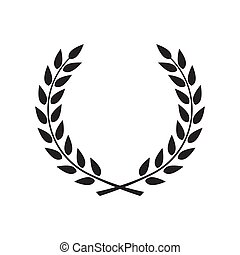 Laurel wreath - symbol of victory and power flat icon for apps a
