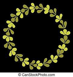 Laurel wreath vector frame