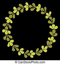 Laurel wreath vector frame