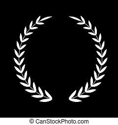 Laurel Wreath. Vector icon