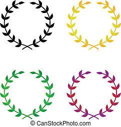 Laurel Wreaths - Four simple, elegant vector laurel wreaths....