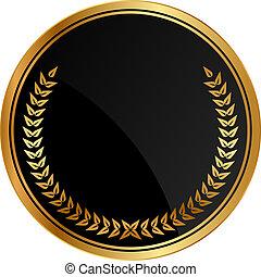 laurels, מדליון, זהב