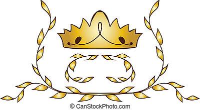 laurels, 王冠, 金