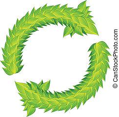 laurels, ghirlanda, verde