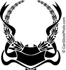 laurier, heraldisch, krans