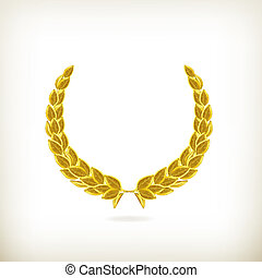 laurier, vecteur, couronne, récompense