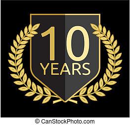 laurierkroon, tien, jaren