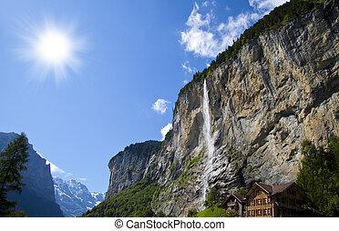 Lauterbrunnen Waterfall, Switzerland