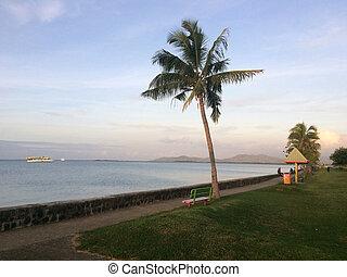 lautoka, strand, fidschi