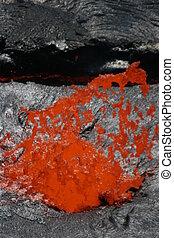 Lava bubble at Erta Ale volcano